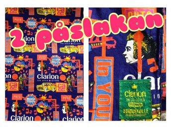 2 POPPIGA Påslakan RETRO Bomull Clarion Bilar CARNABY London Mod POP 60-tal - Kramfors - 2 POPPIGA Påslakan RETRO Bomull Clarion Bilar CARNABY London Mod POP 60-tal - Kramfors