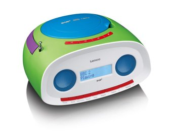 Lenco Portabel DAB+ radio med CD/MP3-spelare SCD-69 grön
