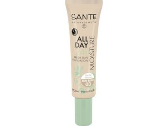 24h Fuktgivande Foundation 03 Sun Beige, 30 ml - Sante - EKO & Vegan