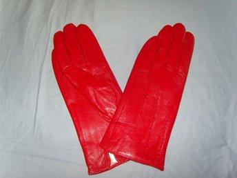 Snygga röda skinnhandskar. stl. 8. NYA. - älvsjö - Snygga röda skinnhandskar. stl. 8. NYA. - älvsjö