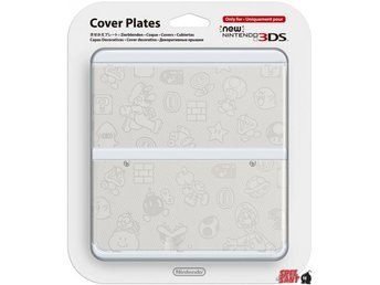 Nintendo New 3DS Cover Plates Vit Mario (012)