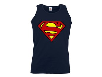 SUPERMAN LOGO BLUE TANK TOP DC COMICS - Small