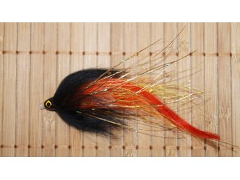 Black Orange Pike Tubfluga Handgjorda