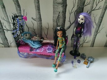 Begagnade Monster high dockor, möbler och tillbehör