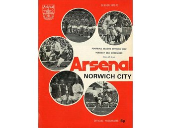 Arsenal - Norwich (26.12.1972)