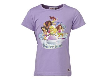 "LEGO FRIENDS T-SHIRT ""WATER"" 503617 LILA-134 Ord pris 249.00:-"