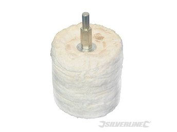 63mm CYLINDER POLISHING MOP 100% COTTON FINAL BUFFER POLISHER
