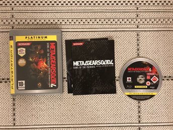 Metal Gear Solid 4: Guns Of The Patriots till Playstation 3, PS3, komplett