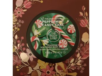 NY!! The body shop body butter - peppermint candy cane - julklapp - jul