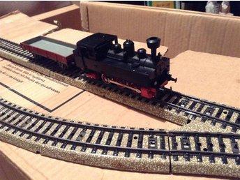 Märklin ånglok godsvagn 2växlar m 4 skenor - Stora Höga - Märklin ånglok godsvagn 2växlar m 4 skenor - Stora Höga