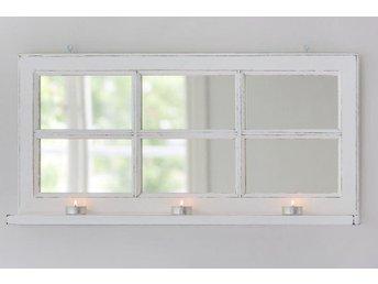 Shabby chic fönsterspegel med hylla 6 fönster - Rimbo - Shabby chic fönsterspegel med hylla 6 fönster - Rimbo