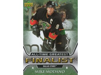 2005-06 Upper Deck All-Time Greatest #19 Mike Modano - Kalmar / Sweden - 2005-06 Upper Deck All-Time Greatest #19 Mike Modano - Kalmar / Sweden