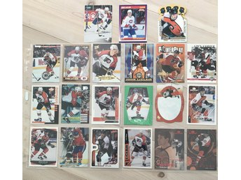 John Leclair LOT! 21st! RC kort! Philadelphia Flyers Hockeykort Hockeybilder