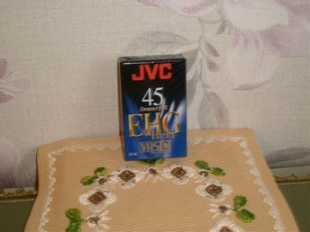 VHS BAND SP 45 LP 90 min JVC EC-45 EHG Compact VHS C Hi-Fi PAL SECAM NY SKICK - Eslöv - VHS BAND SP 45 LP 90 min JVC EC-45 EHG Compact VHS C Hi-Fi PAL SECAM NY SKICK - Eslöv