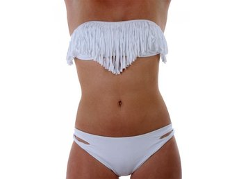 bikiniöverdel med fransar