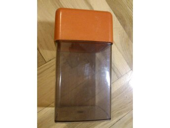 burk plast plastburk orange lock 60/70-tal  retro