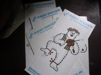 Radio Sweden broadcast schedule  1989 - QSL