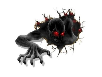 Wallsticker Terror 3D