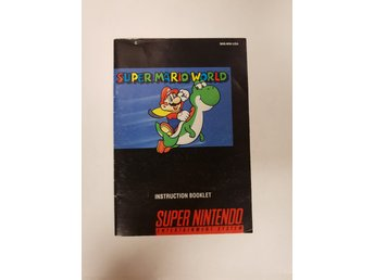 Super Mario World - Manual SNES NINTENDO - USA
