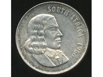 South Africa 1966 1 Rand UNC se bild