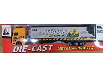 Hobbytoys Bilar Cars Truck 20cm Lastbil Långtradare Trailer Orange King Cool