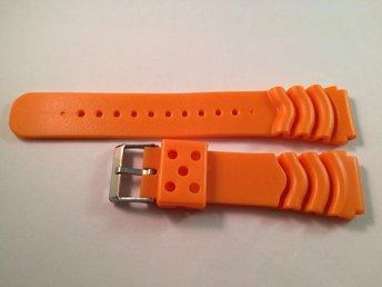 22 mm -- NYTT -- klockarmband -- orange gummi -- armband för klocka - Boliden - 22 mm -- NYTT -- klockarmband -- orange gummi -- armband för klocka - Boliden