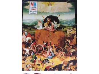 "Pussel Retro 1500 bitar  MB 59 X 78 cm Serie "" Salon "" The Haywagon by Bosch"