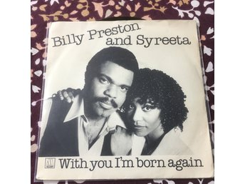 "BILLY PRESTON AND SYREETA - WITH YOU I AM BORN AGAIN 7"" Motown 1979"