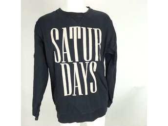 SATURDAYS blå Tröja strl XL