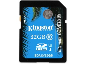 Kingston minneskort, SDHC, 32GB, UHS-I Ultimate, Class 10