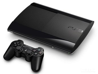 Playstation 3 Super Slim 500 GB Nyskick + GTA 5 och 7 Spel
