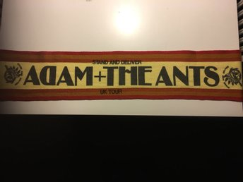 Adam and the ANTs  konserthalsduk tjockare stand and deliver 1981 tour