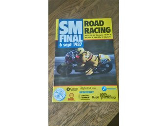 SM final Road Racing 6 sept. 1987 program