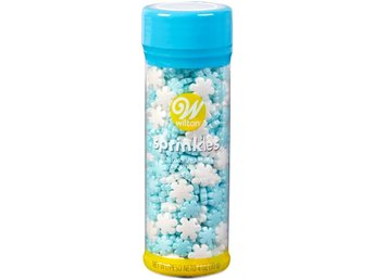 Wilton Sprinkles Jumbo and Mini Pearlized Stars Strössel Snöflingor 710-7662