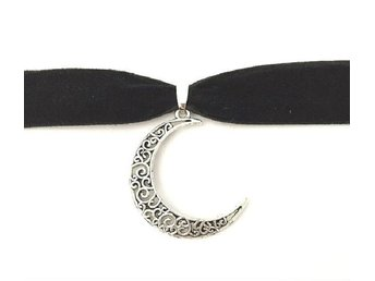 Choker - Måne - Crescent moon - Wicca - Pagan