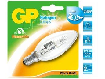 GP Lighting Halogen Candle E14 30W (40W) warm-white 350 lm - Höganäs - GP Lighting Halogen Candle E14 30W (40W) warm-white 350 lm - Höganäs