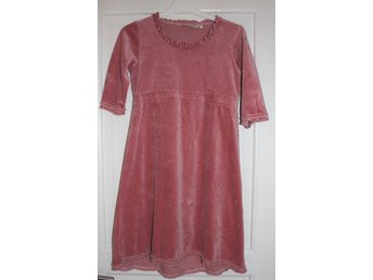 House of Lola Come along dress velour old rose - 146/152