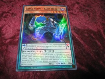 YU-GI-OH ABYSS ACTOR - SASSY ROOKIE FOILAT DESO-EN019