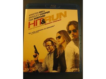 HIT & RUN -  BRADLEY COOPER, KRISTEN BELL - ACTIONKOMEDI - BLU-RAY - 2012