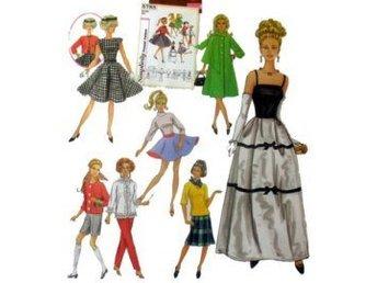 32 delar Mönster 60-tal Retro Vintage Barbie Barbiekläder Dockkläder Symönster - Huddinge - 32 delar Mönster 60-tal Retro Vintage Barbie Barbiekläder Dockkläder Symönster - Huddinge