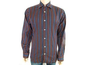 Gap storlek M skjorta blå randig bomull tillfällig brun SAMFRAKT - Ciechanów - Gap storlek M skjorta blå randig bomull tillfällig brun SAMFRAKT - Ciechanów