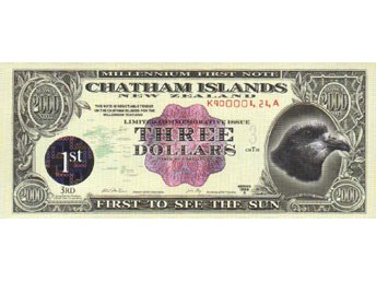 NewZealand ChathamIslands 3 Dollars 1999A (2000)  P-NL UNC