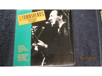 PETE TOWNSHEND  / THE WHO  / Vinyl / LIVE /