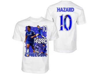 T-shirt - Hazard 10 - Chelsea - Tryck fram & bak Medium