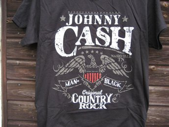 T-SHIRT SVART JOHNNY CASH MUSIK COUNTRY storlek L
