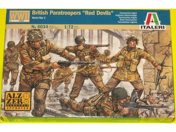 WWII BRITISH PARATROOPERS RED DEVILS      Italeri  1/72 Byggsats