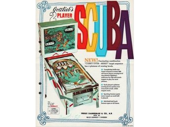 Original flyer Gottlieb SCUBA