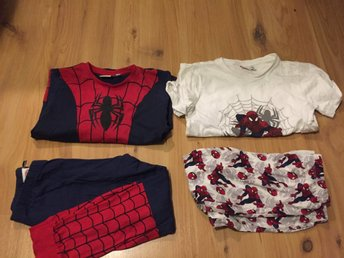 2 spiderman spindelmannen pyjamas Stl 110/116
