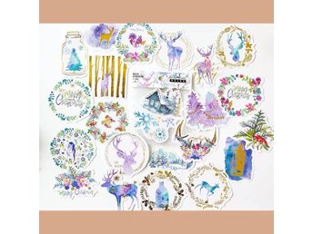 Christmas greetings - a pack of 24 large size gift stickers dekorationstejp