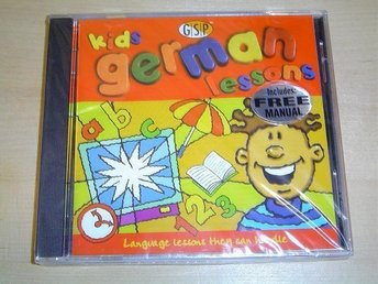 KIDS GERMAN LESSONS PC CD-ROM *NYTT*